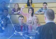 University teacher with class royalty free stock image
