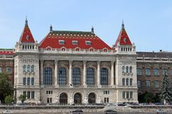 University of Technology and Economics in Budapest. Hungary stock photography