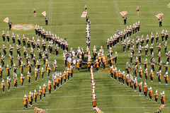 The University of Tennessee Pride of the Southland Marching Band. Doing halftime during Alabama game in 2012 Royalty Free Stock Photos