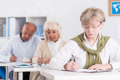 University of the third age. As a form of stimulation Stock Photos