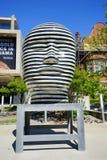 University of Torontostatue. University of Toronto statue and building Stock Photo