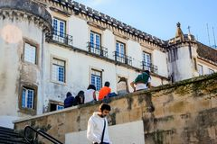 The university town Coimbra, Portugal. On top of the Mondego mountain lies the oldest Portuguese university Royalty Free Stock Photography