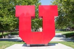 University of Utah `U` Logo Stock Image