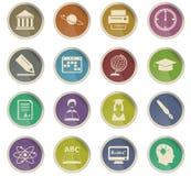 University icon set. University vector icons for user interface design vector illustration