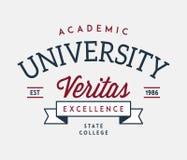 University veritas excellence vector illustration