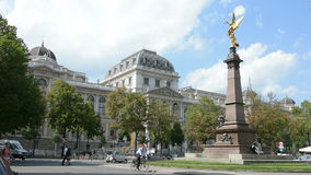 The university of Vienna palace. A view of the University from the square in front of the building in Vienna stock footage