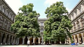 The University of Vienna (Universitat Wien). VIENNA, AUSTRIA - AUGUST 04, 2015: The University of Vienna (Universitat Wien) is a public university founded by stock video