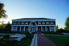 University of Virginia. Campus building in Charlottesville, VA, USA stock photos
