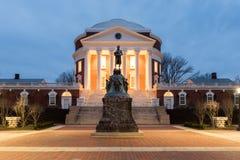University of Virginia - Charlottesville, Virginia. The University of Virginia in Charlottesville, Virginia at night. Thomas Jefferson founded the University of Royalty Free Stock Photography