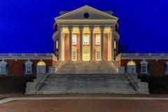 University of Virginia - Charlottesville, Virginia. The University of Virginia in Charlottesville, Virginia at night. Thomas Jefferson founded the University of Stock Images