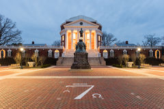 University of Virginia - Charlottesville, Virginia. The University of Virginia in Charlottesville, Virginia at night. Thomas Jefferson founded the University of Stock Images