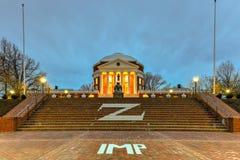 University of Virginia - Charlottesville, Virginia. The University of Virginia in Charlottesville, Virginia at night. Thomas Jefferson founded the University of Royalty Free Stock Photo