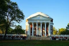 University of Virginia. Campus building in Charlottesville, VA, USA royalty free stock images