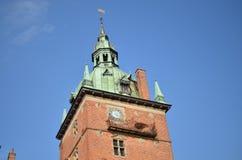 Valloe castle tower in denmark Stock Images
