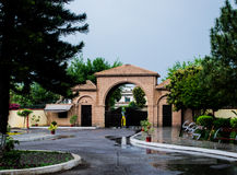 University at Wah. This is my university at Wah. In rainy days Royalty Free Stock Images