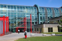 Modern university architecture, University of Waterloo, Canada. The University of Waterloo, highly regarded for technical subjects such as computer science royalty free stock photography