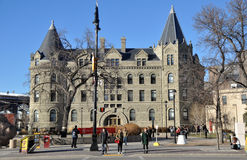 The University of Winnipeg. View on the streets of Winnipeg City, Manitoba province, Canada. The photo was taken in November 2013 stock images