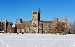 University in winter Stock Photo