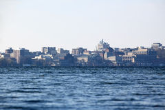 University of Wisconsin Madison. Across Lake Mendota royalty free stock photography