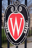 University of Wisconsin Madison Logo. Entrance to Camp Randall Stadium in Madison, Wisconsin featuring the Wisconsin Logo Stock Image