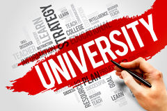 University. Word cloud, education concept Stock Image