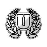 University wreath symbol Stock Photography