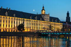 University of Wroclaw in the evening Royalty Free Stock Photo