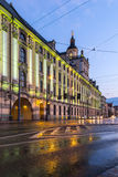 University of Wroclaw headquerter by night Royalty Free Stock Photography