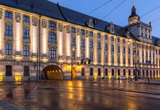 University of Wroclaw headquerter by night Stock Photography