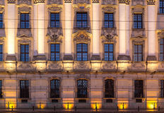 University of Wroclaw headquerter by night Royalty Free Stock Photo