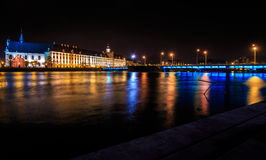 University of Wroclaw at night Stock Photography