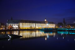 University of Wroclaw by night. Royalty Free Stock Photos