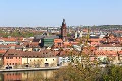 University of Wurzburg and historic city, Bavaria, Germany Royalty Free Stock Images