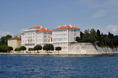 University of Zadar. University building of Zadar from the sea Stock Photography