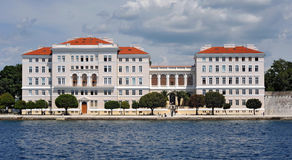University of Zadar, Croatia. University building of Zadar from the sea Royalty Free Stock Photos