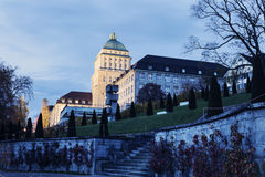 University of Zurich at dusk Royalty Free Stock Photos