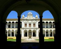 University of Évora II. The University of Évora was the second university to be established in Portugal. After the foundation of the University of Royalty Free Stock Images