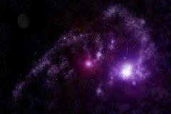 Universo abstrato - nebulosa do espaço Fotografia de Stock