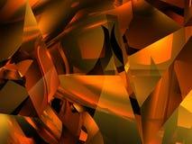 Universo arancione Fotografie Stock Libere da Diritti