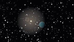 Universo astratto ed il pianeta Fotografia Stock