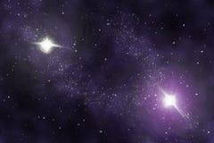 Universo astratto - nebulosa dello spazio Immagine Stock Libera da Diritti
