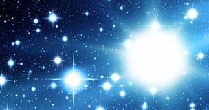 Universo azul Fotos de archivo