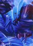 Universo azul Imagem de Stock
