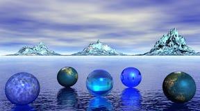 Universo blu Immagini Stock Libere da Diritti