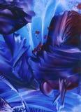 Universo blu immagine stock