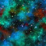 Universo colorido abstracto Vector inconsútil Imagen de archivo libre de regalías