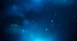 Universo com estrelas e luz azul profunda Fotografia de Stock Royalty Free