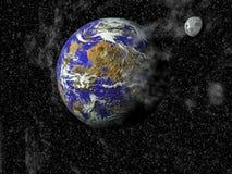 Universo con parecchi pianeti illustrazione di stock