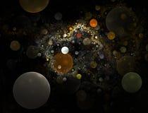 Universo da bolha - fractal ilustração royalty free