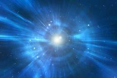 Universo da calha do curso da urdidura do espaço Fotografia de Stock